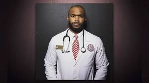 Dr. Myron Rolle (1986-  ) A resident at Harvard Medical School's neuroscience program at Massachusetts General Hospital, Dr.  Rolle focuses on brain and head trauma. A model of versatility, he graduated from college early, was selected as a Rhodes Scholar, studying at Oxford, England--where he earned a master's degree in medical anthropology-- and postponed his NFL draft for a year before heading off to play safety for the Tennessee Titans and Pittsburgh Steelers. He left football in 2013…