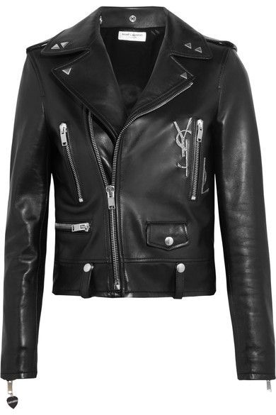Saint Laurent | Perfecto embellished leather biker jacket | NET-A-PORTER.COM