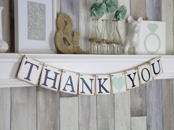 Thank you Banner Thank you Photo Prop Thank door WeddingBannerLove