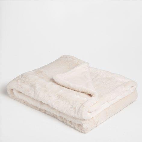 fur blanket #zarahome