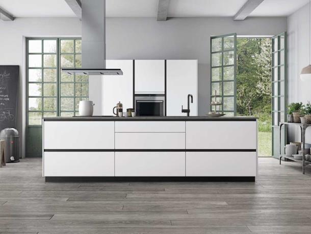 Tinta Light Grey – La cuisine dédiée à l'habitation nordique lumineuse | kvik.be