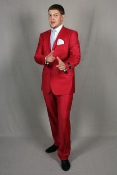 Классический мужской костюм бордовый