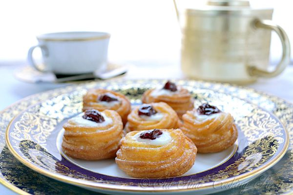 Zeppoles are light-weight, doughnuts or fritters topped with powdered sugar. This pastry is typical of Italian cuisine. Zeppole are traditionally consumed on Saint Joseph's Day (La Festa di San Giuseppe), 19th March. Print ZEPPOLE (Italian Fried Cookies) Serves:16 zeppole  Ingredients 1 cup (250 ml) water 1/3 cup (70 gr) butter a pinch salt 5 [...]