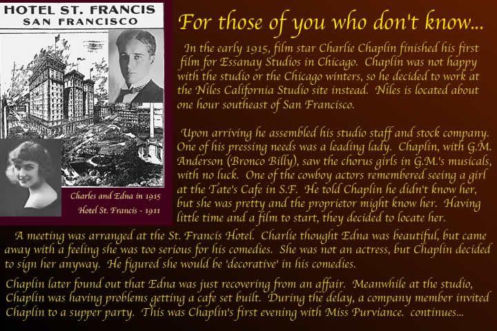 Charlie Chaplin and Edna Purviance meet