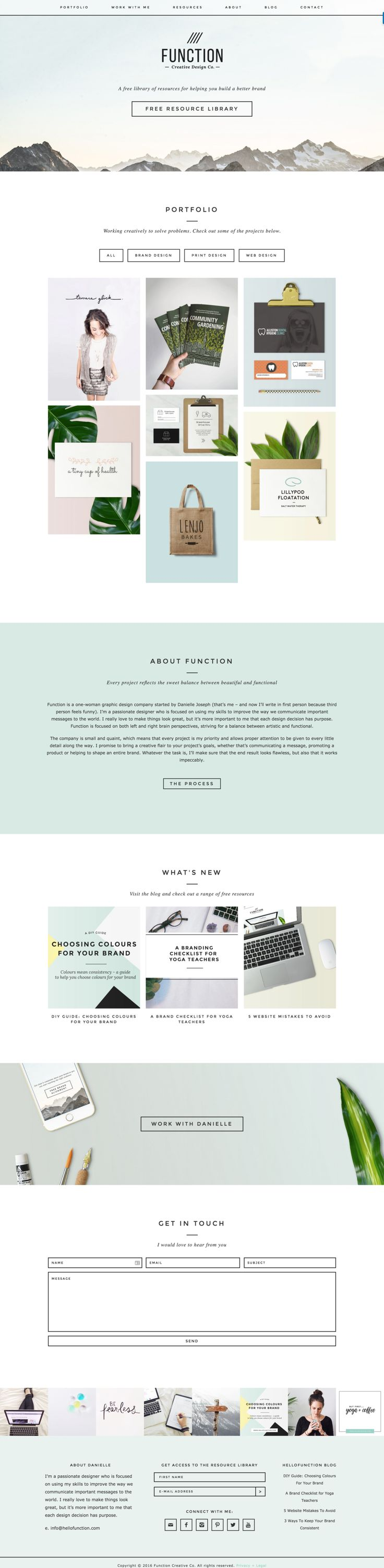 Check out Function Creative Co.'s website built using a Station Seven WP theme.