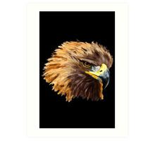 Golden Eagle (Black) Art Print