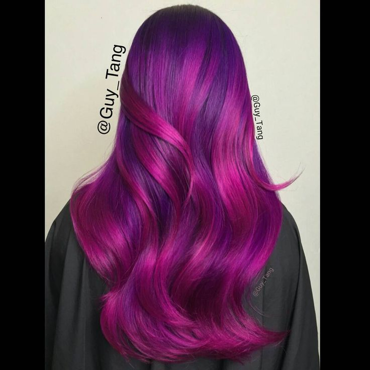 """""""Shades of violet,wild orchid, and mix them with magenta using pravana vivids. Is anyone working this weekend?"""""""