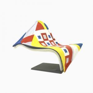 Fliegender Teppich Beistellstuhl von Simon Desanta für Rosenthal, 1988
