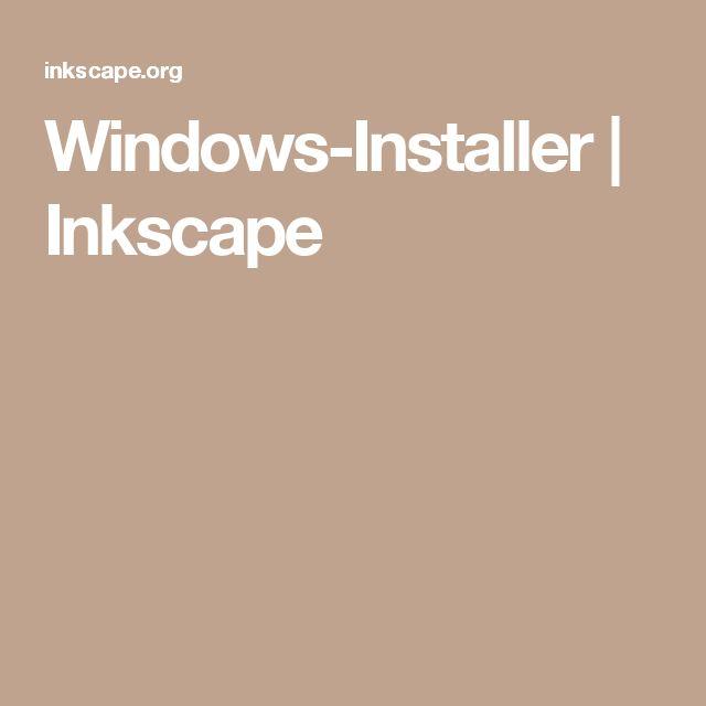 Windows-Installer | Inkscape