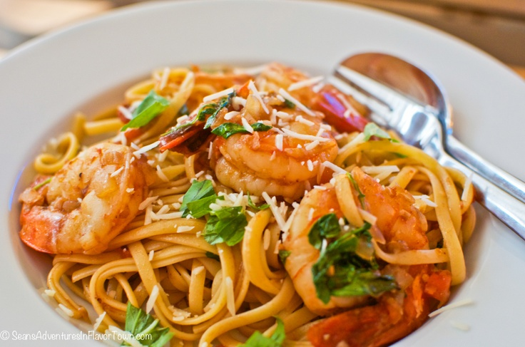 Linguine with Prawns, Preserved Black Bean & Chili ............................................................ from Whitewater Cooks with friends