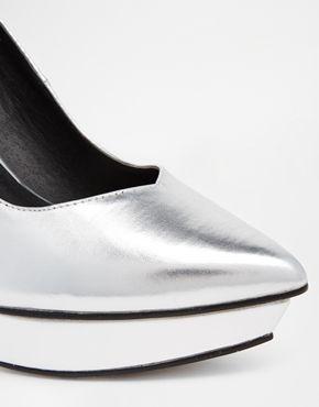 Agrandir ASOS - P.S. I LOVE YOU - Chaussures pointues à semelle compensée