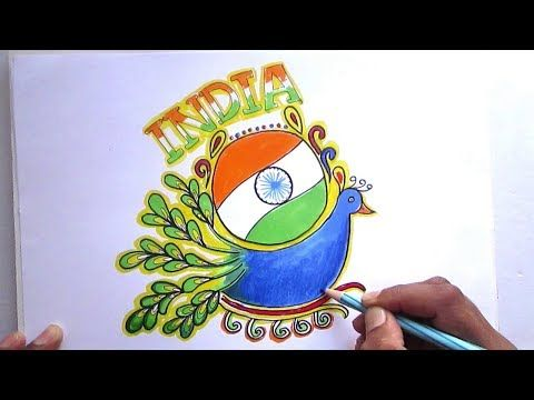 38f04674d499 Happy Republic Day Creative Drawing for kids