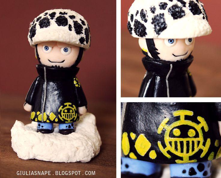 Trafalgar Law from One Piece. Made with polymer clay, by Giulia Snape     #trafalgar #polymer #clay #law #one #piece #onepiece #trafalgarlaw #anime #handmade
