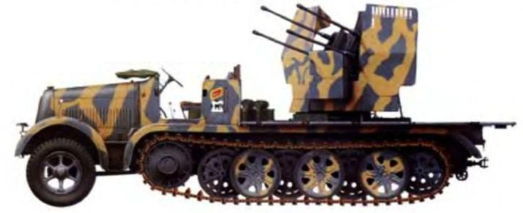 Luftwaffe flak tractor, Russia summer 1942, pin by Paolo Marzioli