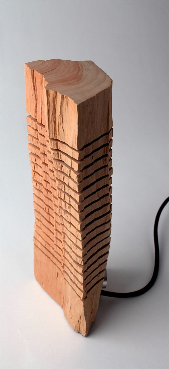 Minimalist Split Wood Lights and Sculptures by Split Grain