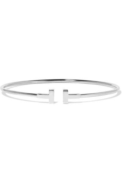 Tiffany & Co. - T Wire Narrow 18-karat White Gold Bracelet -