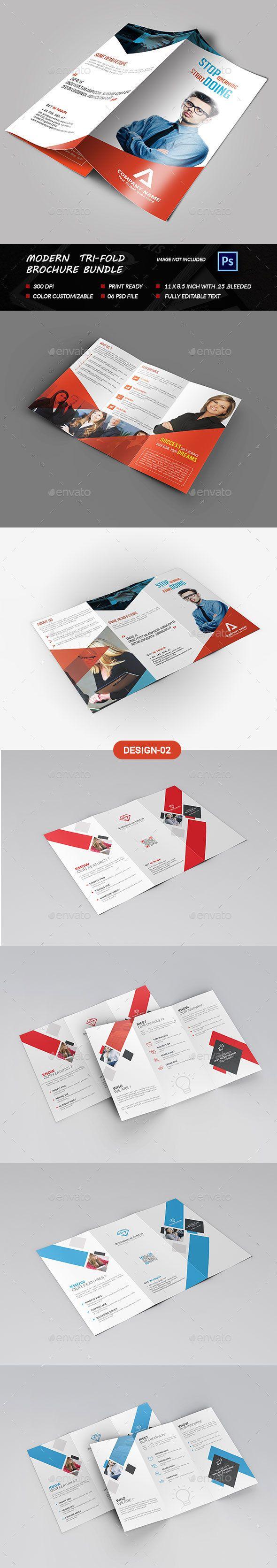 Modern Tri-fold Brochure Template PSD Bundle. Download here: http://graphicriver.net/item/modern-trifold-brochure-bundle-/15475994?ref=ksioks