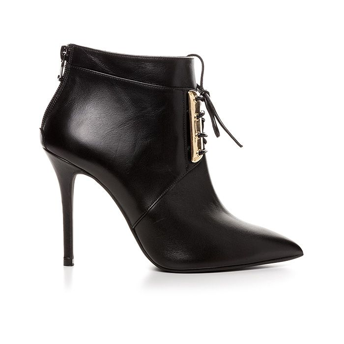 100440_BLACK LEATHER #mourtzi #booties #ankleboots #wow #fashionshoes #laceup