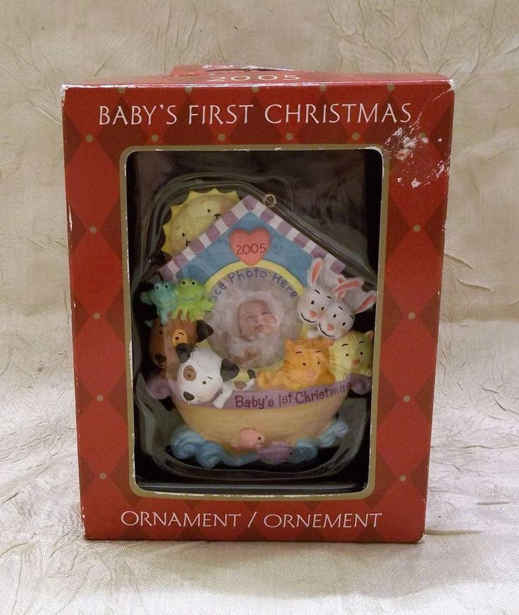 Exceptional American Greeting Christmas Ornaments Part - 2: 2005 Babyu0027s First Christmas Ornament Holiday American Greetings