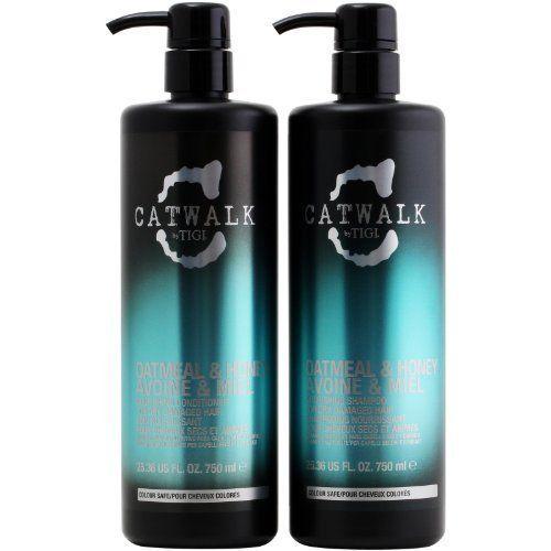 Tigi Catwalk Oatmeal  Honey Shampoo and Conditioner 2536 Oz Tween * Click image for more details.