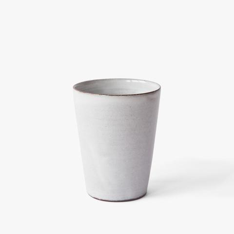 ceramic mug Nina Rail #ceramics #white #simple #handmade #hnstly