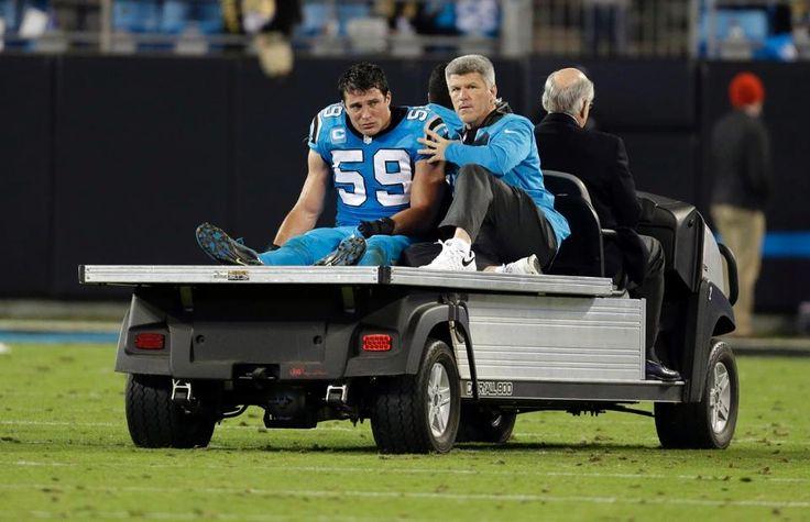 Saints Panthers Football Luke Kuechly