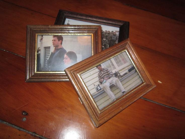 Photo frames x3.
