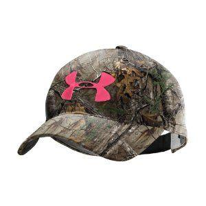 Under Armor Camo & Pink Hat