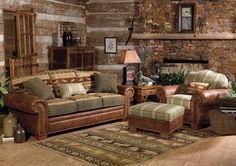 cabin furniture | Log Home Interior Decorating Tips