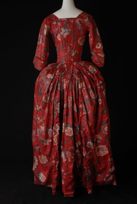 Robe a l'anglaise, 1780-1785. From the Museum Rotterdam.
