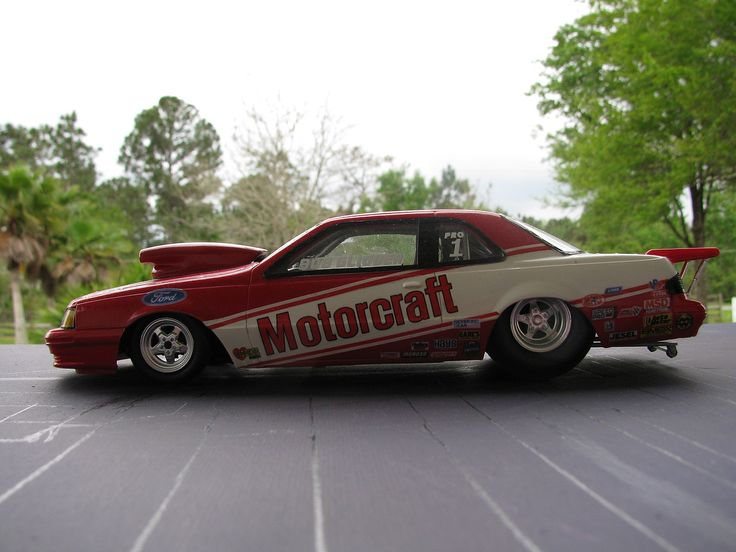 Motorcraft T Bird Pro Stock Plastic Model Car Kit In 1 24 Scale
