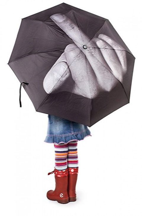 So I basically NEED to have this :): Fucking, Interesting Umbrellas, Fck Umbrellas, Middle Fingers, Funky Umbrellas, Rain Umbrellas, Funny, Products, Awesome Umbrellas