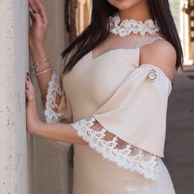 Custom Made Vintage Champagne Evening Dresses Elastic Satin 3/4 Sleeveless Ankle-Length 2018 Illusion Prom Dresses Long Dresses Evening Wear