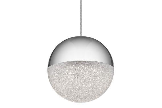 Elan Moonlit Chrome 4 3/4-Inch-W LED Mini Pendant - #EU12V46 - Euro Style Lighting
