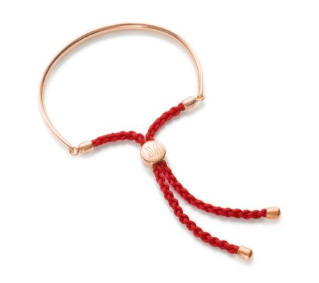 <p>Coral for luck. The popular Fiji Friendship Bracelet, in 18ct Rose Gold Vermeil on Sterling Silver with adjustable cord, looks great worn with multiple bracelets and bangles and makes a perfect gift for a friend. We suggest teaming it with our Esencia Friendship or Chain bracelets. The bar measures approximately 11cm (4.3