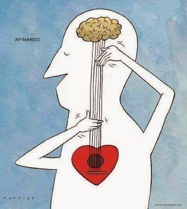 El corazón esta en al mente, no hay sentimientos sin pensamientos.