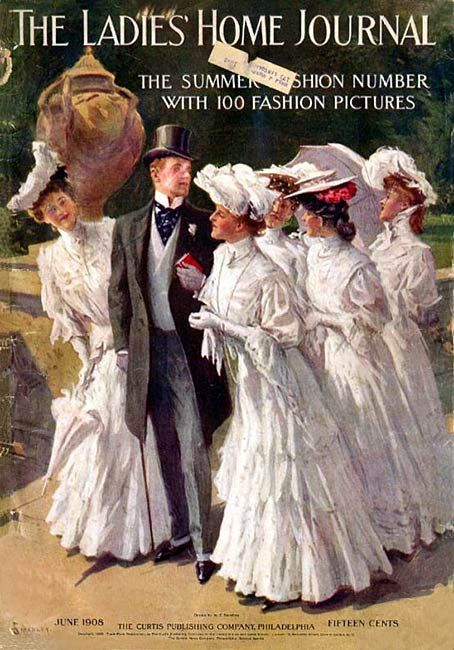June 1908 Ladies' Home Journal Fashion Cover