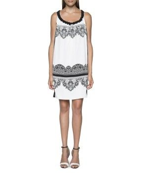 Monochrome satin dress from Woolworths.co.za