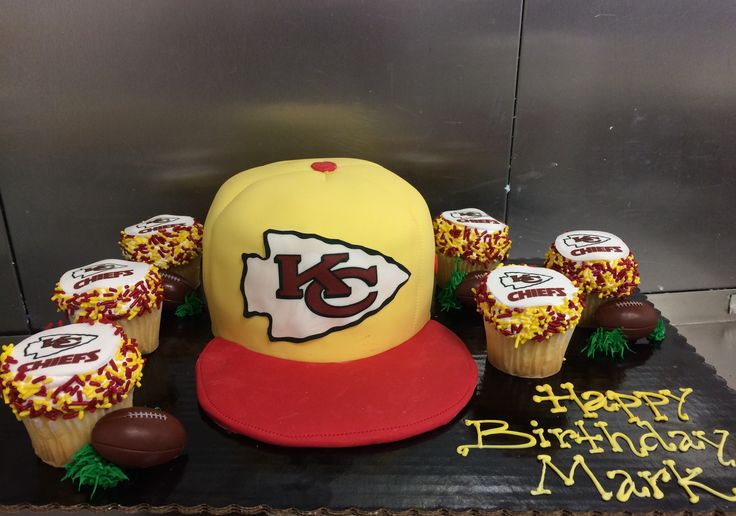 Kansas Chiefs Hat Cake