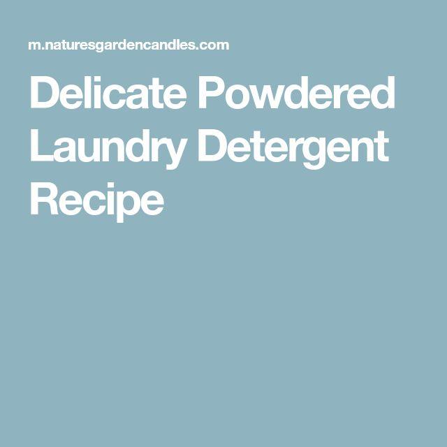 Delicate Powdered Laundry Detergent Recipe