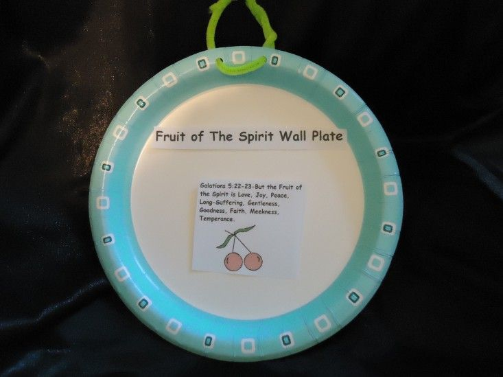fruit of the spirit crafts fruit of the spirit wall hanging plate sunday school 6607