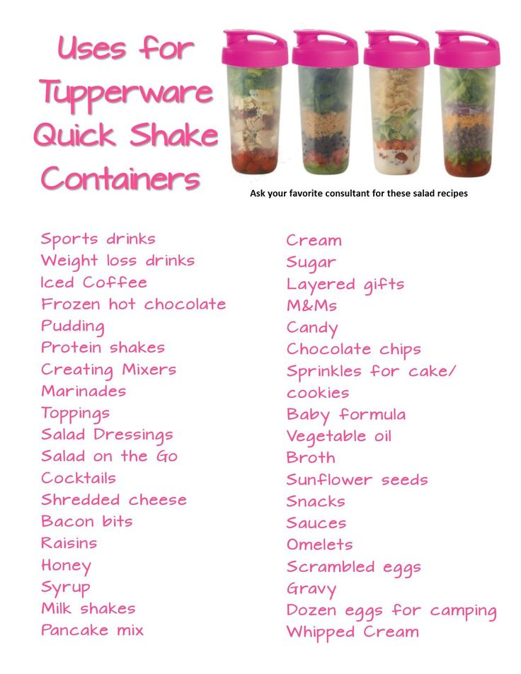Tupperware Quick Shake