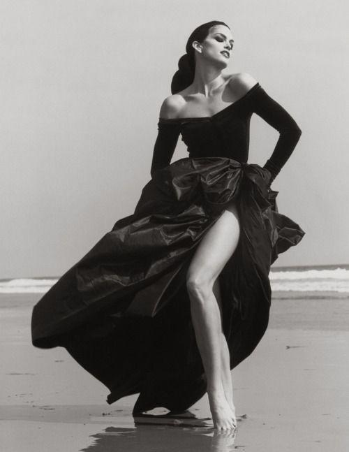 Herb Ritts ~ Cindy Crawford, Ferre 3, Malibu, 1993