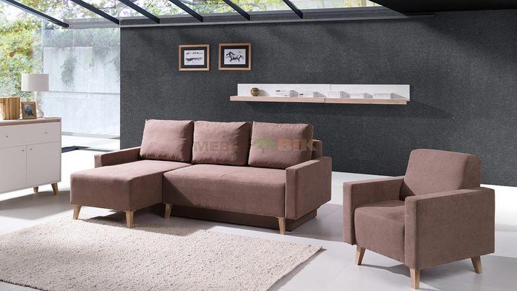 Komplet wypoczynkowy Oviedo narożnik z fotelem stylowy wypoczykowy do salonu - Meble GiB - sklep meblowy Meble BIK