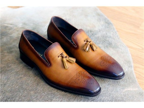 2142932ac3904 Carrucci Burnished Calfskin Tasseled Loafer | C&E Fashions Tassel Loafers,  Penny Loafers, Men Dress