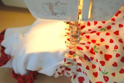 adding ruffled skirts to onesies