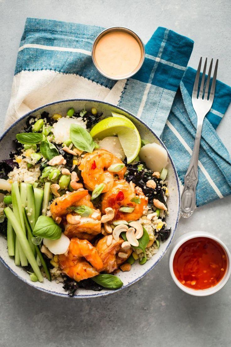 Healthy Dynamite Shrimp Bowl  with quinoa