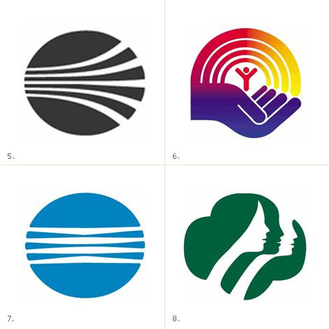 Saul Bass | 5. Continental Airlines, 1968 6. United Way, 1972 7. Minolta, 1978 8. Girl Scouts, 1978
