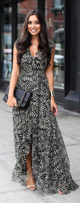 Maxi Dress Romance Fall Inspo by With Love From Kat