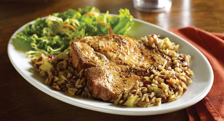 Favorite fruit ingredients merge with the flavors of New Orleans to create a truly versatile one-pot pork chop and rice dish.